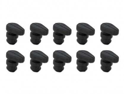 Set 10 buc niplu de cauciuc pentru SSD M.2 Negru, Delock 18305