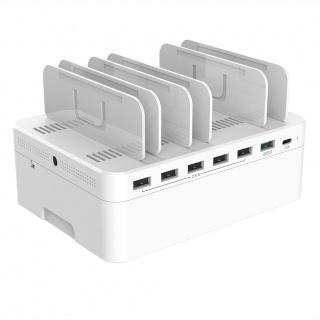 Statie de incarcare (Incarcator priza) cu 5 porturi USB + 1 x Quick Charge 3.0+ 1 x USB-C, Value 19.99.1069