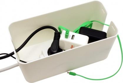 Cutie pentru organizarea cablurilor alba 235 x 115 x 120 mm, Value 19.99.3236