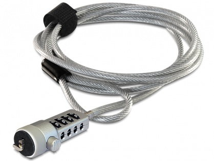 Cablu anti furt pentru laptop cu cifru, Navilock 20643