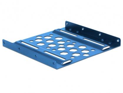"Kit instalare HDD 2.5"" la 3.5"" aluminiu Albastru, Delock 21291"