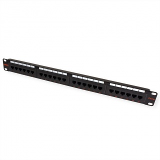 Patch Panel UTP Cat.5e, 24 porturi, negru, Roline 26.11.0349