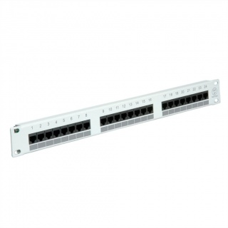 Patch Panel VALUE UTP Cat.5e 24 porturi,gri, 26.99.0347-5