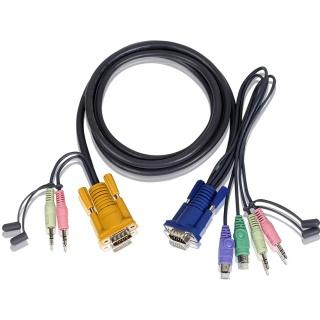 Cablu PS/2 KVM 3 in 1 cu SPHD si Audio 3m, ATEN 2L-5303P