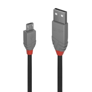 Cablu USB 2.0 la micro USB-B T-T 0.2m Anthra Line, Lindy L36730