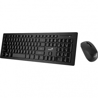 Kit wireless tastatura + mouse Negru Slimstar 8008, Genius 31340001400