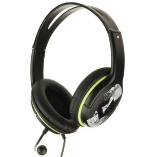Casti cu microfon Negru+verde, GENIUS HS-400A