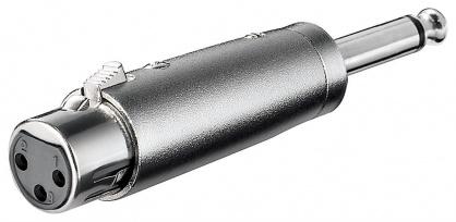 Adaptor jack mono 6.35mm la XLR T-M, KJACKXLR08
