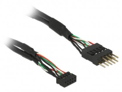 Cablu USB 2.0 pin header 2.00 mm 10 pini la USB 2.0 pin header 2.54 mm 10 pini M-T 12cm, Delock 41977