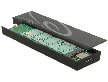 Rack extern toolless M.2 SSD 42/60/80 mm la USB 3.1 tip C Gen 2, Delock 42597