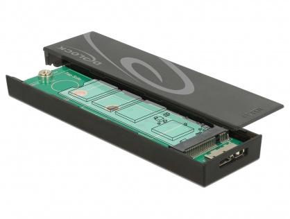 Rack extern toolless M.2 SSD 42/60/80 mm la micro-B USB 3.1 Gen 2, Delock 42598