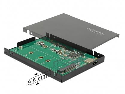 """Rack extern 2.5"""" pentru M.2 NVMe PCIe SSD la USB-C 3.1 cu protectie EDS, Delock 42609"""