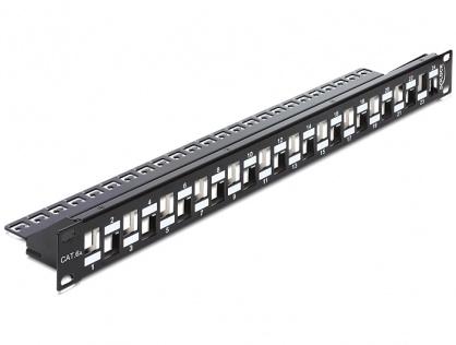 """Patch Panel 19"""" pentru keystone 24 porturi incrucisate negru, Delock 43278"""