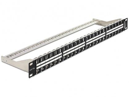 """Patch Panel 19"""" 1U pentru keystone 48 porturi, negru Delock 43280"""