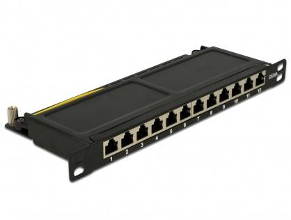 """Patch Panel 10"""" 12 porturi Cat.6A 0.5U negru, Delock 43312"""