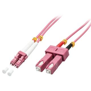 Cablu fibra optica LC-SC OM4 Duplex Multimode 15m, Lindy L46365