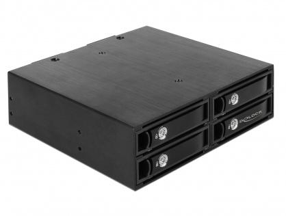 """Rack mobil intern 5.25""""  la 4 x 2.5"""" SATA/SAS HDD/SSD 12 Gb/s, Delock 47233"""