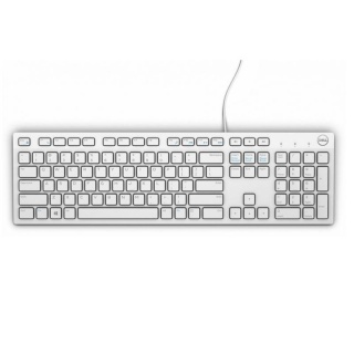 Tastatura multimedia USB KB216 Alb, Dell 580-ADGM