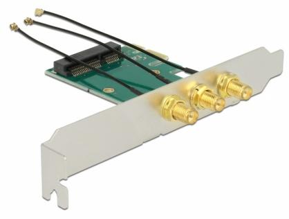 PCI Express la Mini PCI Express si 3 X RP-SMA, Delock 89294
