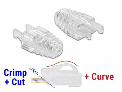 Set 20 buc manson pentru conector RJ45 Crimp+Cut+Curve, Delock 86471