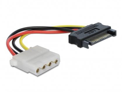 Cablu alimentare SATA 15 pini la Molex T-M 12cm, Delock 60115