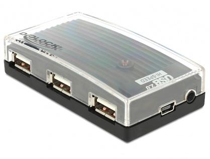 Hub USB 2.0 extern 4 Port + alimentare, Delock 61393