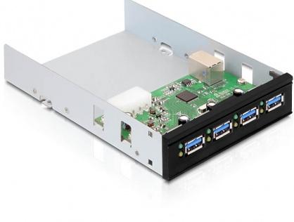 "Front Panel 3.5""/5.25"" cu 4 porturi USB 3.0, Delock 61833"