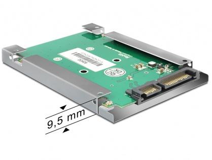 """Adaptor SATA 22pini la mSATA cu frame 2.5"""", Delock 62432"""