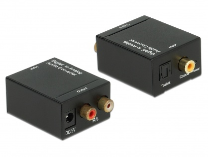 Convertor audio S/PDIF Digital la Analog RCA, Delock 62444