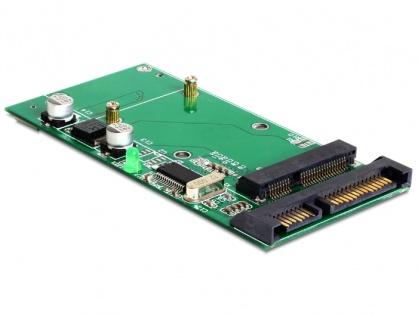 Convertor SATA 22 Pini + USB 2.0 la mSATA full size, Delock 62493