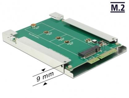 Convertor SATA 22 Pini la M.2 NGFF pana la 9mm, Delock 62552