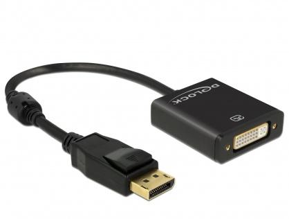 Adaptor Displayport la DVI T-M 1.2 4K Activ Negru, Delock 62599