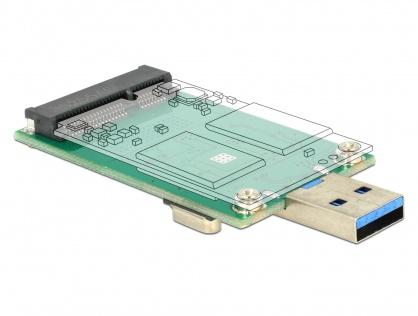 Convertor USB 3.0 la mSATA full size, Delock 62681