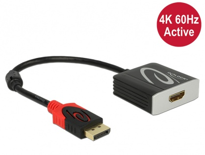 Adaptor Displayport 1.2 la HDMI T-M 4K 60 Hz Activ, Delock 62734