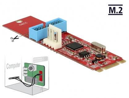 Convertor M.2 Key B+M la 1 x Pin Header USB 3.0, Delock 62842