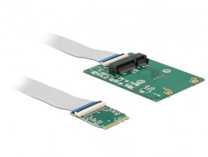 Convertor M.2 Key A+E la 1 x Mini PCIe Slot half size/ full size + cablu flexibil, Delock 62848