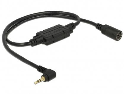 Cablu MD6 socket serial la jack 2.5 mm 3 pini 90° TTL (5 V) 52cm, Navilock 62886
