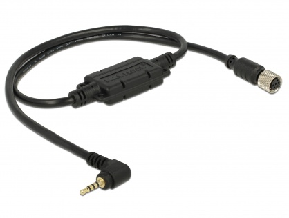Cablu M8 waterproof la jack 2.5 mm 4 pini 90° LVTTL (3.3 V), Navilock 62935