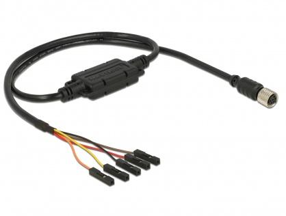 Cablu M8 waterproof la 5 pini pitch 2.54 mm (3.3 V), Navilock 62939