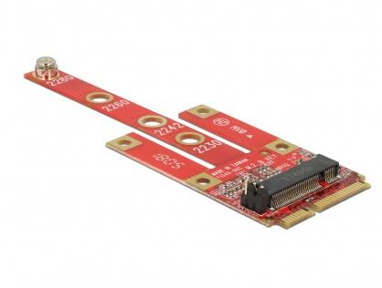 Convertor Mini PCIe la M.2 Key B slot + Micro SIM slot, Delock 63384