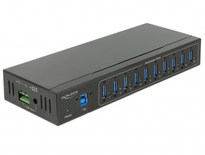 HUB extern industrial cu 4 x USB 3.0 tip A, protectie 20 kV ESD, Delock 63919