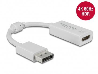 Adaptor Displayport 1.4  la HDMI (DP Alt Mode) 4K 60Hz cu HDR T-M Alb, Delock 63936