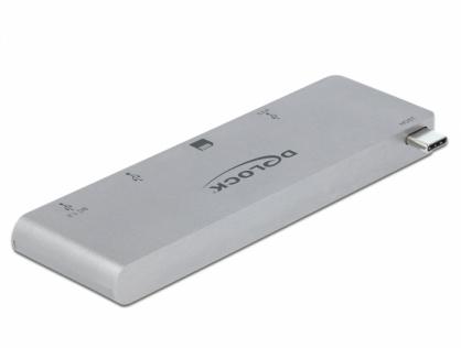 HUB USB-C la 2 porturi USB 3.1-A + 1 x USB-C + 1 x SD + 1 x micro SD pentru MacBook PD 3.0, Delock 64078