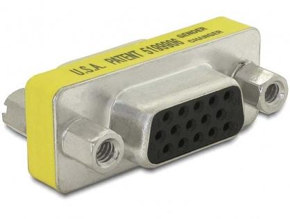 Adaptor VGA 15 pini M-M, Delock 65001