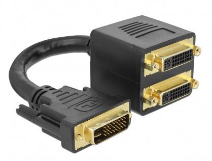 Multiplicator DVI-I Dual Link la 2 x DVI-I Dual Link T-M 24+5 pini, Delock 65053