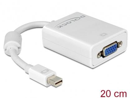 Adaptor mini Displayport la VGA pasiv Alb T-M, Delock 65130