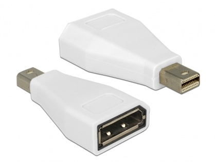 Adaptor mini Displayport la Displayport T-M Alb, Delock 65239