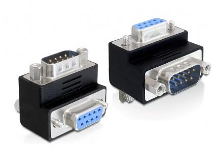 Adaptor serial DB 9 Pini T - M in unghi, Delock 65266
