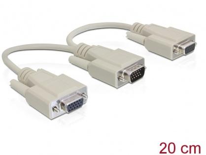 Splitter VGA 2 porturi 20 cm, Delock 65328