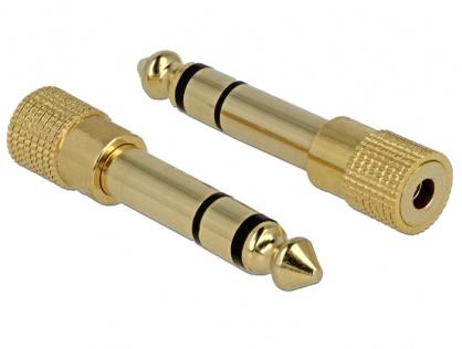 Adaptor Stereo jack 6.35 mm la jack 3.5 mm T-M, Delock 65361
